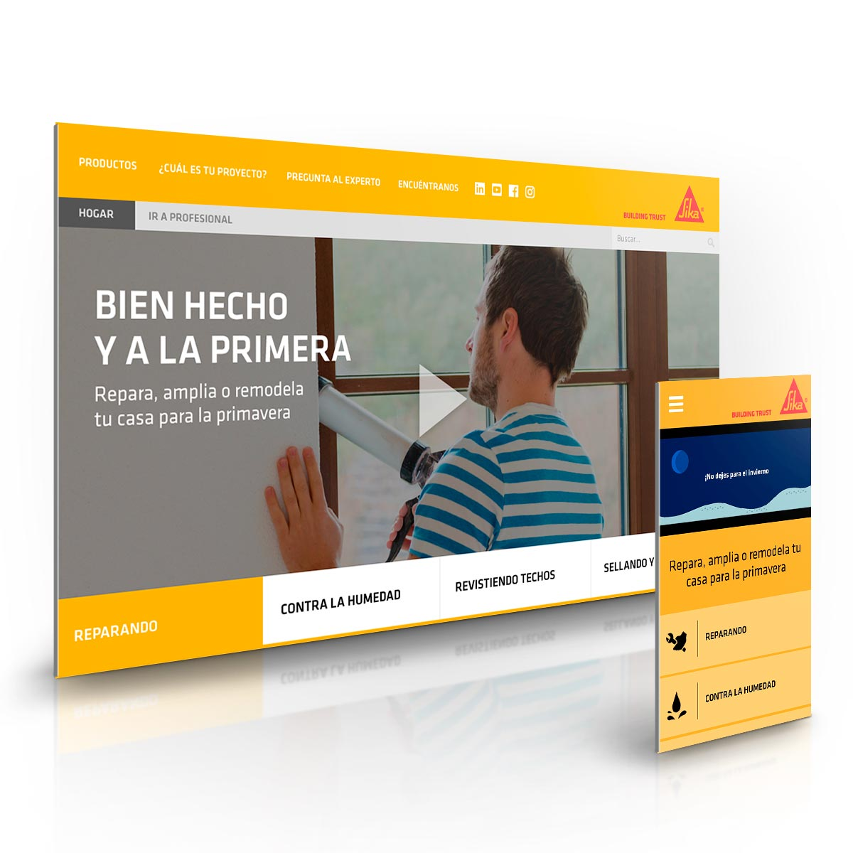 Sitio Web mobile first sikachile.cl - Sika - Agencia Walkers